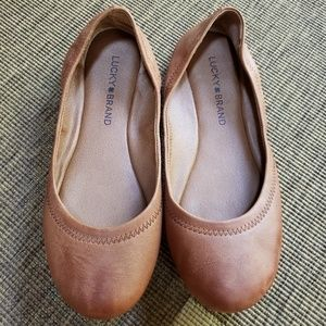 LUCKY BRAND BrownLeather Emmie  flats Size 7